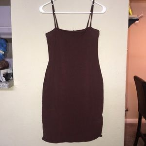 Burgandy Mini Dress - Forever 21